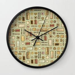 cookies green Wall Clock