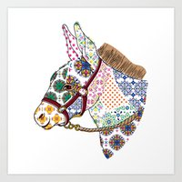 donkey Art Prints featuring DONKEY by Mai Kurihara
