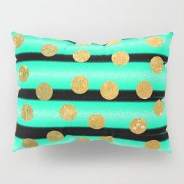 NL 9 9 Turquoise Gold & Black Pillow Sham