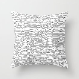 Abstract Lines 01A Throw Pillow