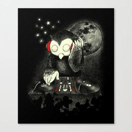 Owl the Night Canvas Print