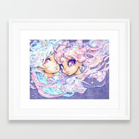 barachan Framed Art Prints featuring little dream by barachan