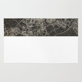 madrid map ink lines 2 Rug