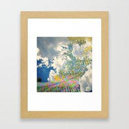 sunflower skies Framed Art Print