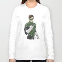 green lantern Long Sleeve T-shirts featuring Green Lantern by Alex Heuchert
