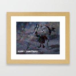 A Dark Christmas with Hermey the Elf from Rudolph Framed Art Print