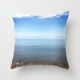 Seaham Beach 1 Throw Pillow