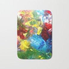 Abstract Palette #4 Bath Mat