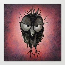 Grumpy Owl Canvas Print