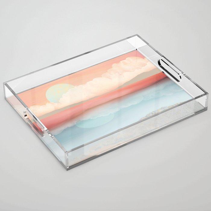 Mint Moon Beach Acrylic Tray