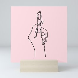 Crystal Lips Mini Art Print