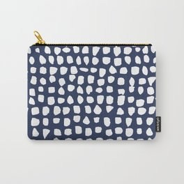 Dots / Navy Carry-All Pouch