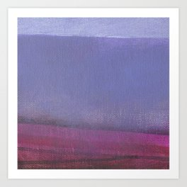 Pink and Lavender Seaside Art Print