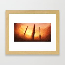 Towers of The Triumvirate Framed Art Print