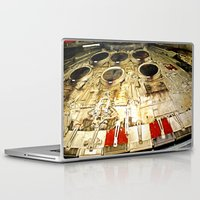 millenium falcon Laptop & iPad Skins featuring Millenium Falcon Body by Ewan Arnolda