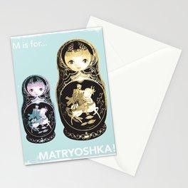 Matryoshka Art Print, Kids Art Print, Nursery Decor, Kids Room Decor, Alphabet, Typography Art Print, Fun Art Print, Alphabet Print, M is For, Alphabet Art Print, Kids Alphabet Stationery Cards