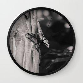 Lizard in Tropical Garden Wall Clock
