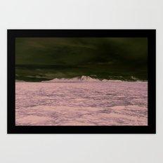 SEA - SNOW - OCEAN - ICE - COLD - COOL - PHOTOGRAPHY Art Print