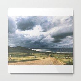 Yin Yang Skies Metal Print