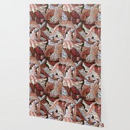 Art Nouveau William Morris Autumn Acanthus Leaves Wallpaper
