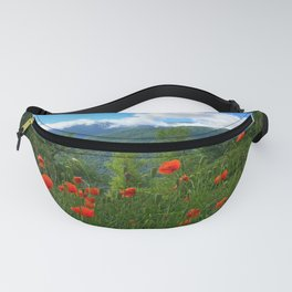 Wild poppies of the Pyrenees mountains Fanny Pack