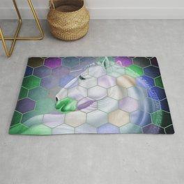 Rainbow Lusitano Mosaic Tiled Art Rug