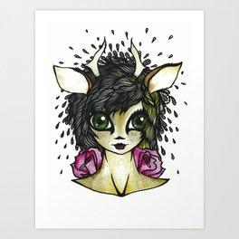 Fawn Girl Art Print
