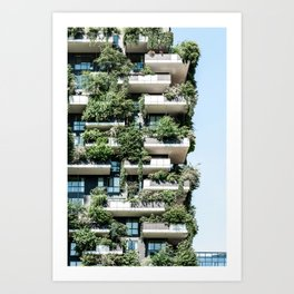 Bosco Verticale, Modern Architecture Print, Urban Jungle, Vertical Forest, Residential Towers Milan, Italy Ecology Architect Art Print