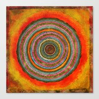 tree rings Canvas Prints featuring tree rings by Asja Boros