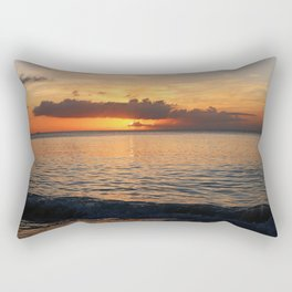 A Cayman Sunset Rectangular Pillow