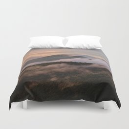 Clearing Storm, Craggy Gardens along Blue Ridge Parkway Duvet Cover