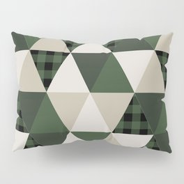 Hunter Green camping cabin glamping cheater quilt baby nursery gender neutral Pillow Sham