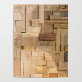 Wood bas-relief Poster