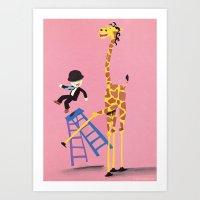 the Bad Giraffe Art Print