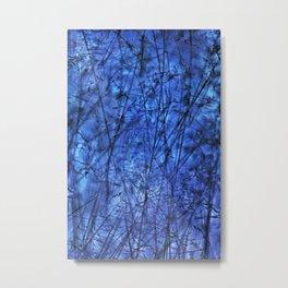 Indigo Plantscape Metal Print