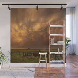 Afterglow - Clouds Glow After Storms at Sunset Wall Mural