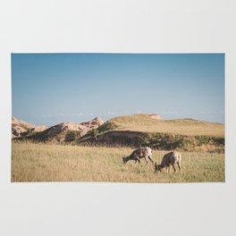 Bighorn Sheep in the Badlands Rug