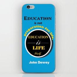 John Dewey philosopher life inspirational Quote iPhone Skin