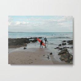 Surfing at Apollo Bay, Australia Metal Print