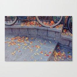 Falling Leaves in Paris Canvas Print
