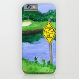 Carbrook Golf Club - Beware of Sharks iPhone Case