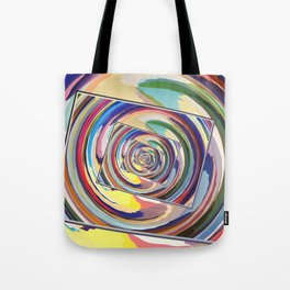 Spinning Colors Abstract Tote Bag