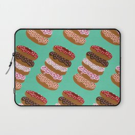 Stacked Donuts on Mint Laptop Sleeve