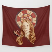 buffy Wall Tapestries featuring Buffy by mycolour