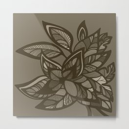 Let Love Grow - Cocoa Metal Print