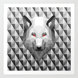 Wolf Head Trophy Art Print