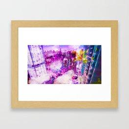 Retro Comic City Framed Art Print