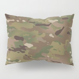 Military Woodland Camouflage Pattern Pillow Sham