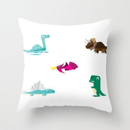 Dinosaurs Hanging Out Throw Pillow