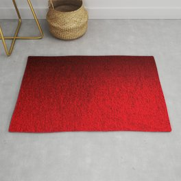 Ruby Red Ombré Design Rug